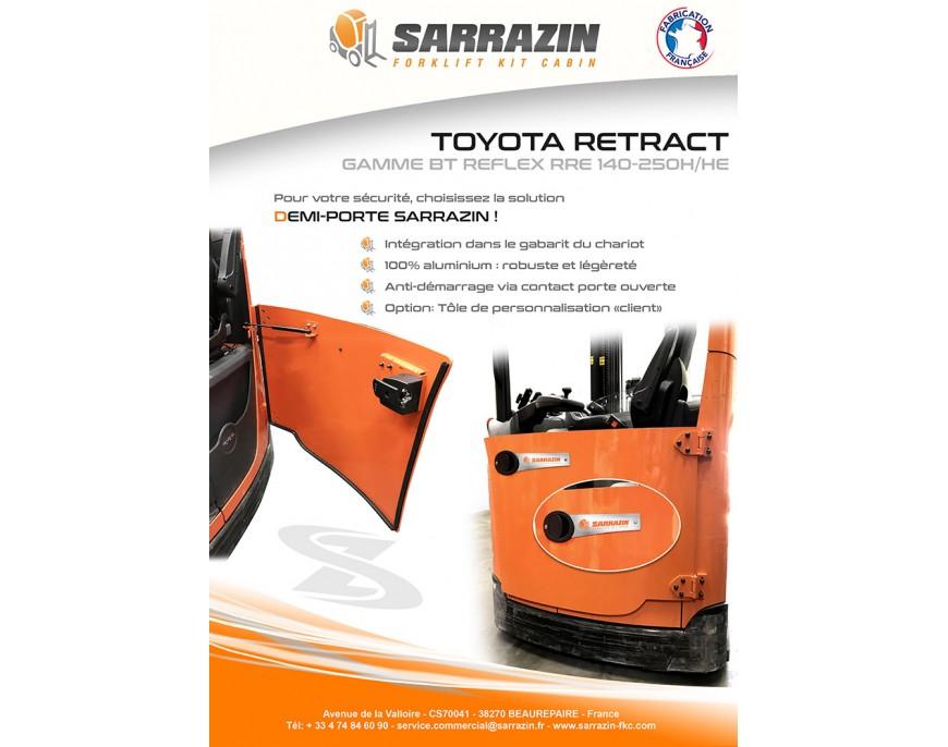 SARRAZIN vous apporte LA SOLUTION à vos chariots à Mât Rétractable TOYOTA de la gamme BT REFLEX RRE 140 à 250 H&HE !